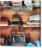 Dressmaking Supplies And Sewing Machine Canvas Print