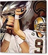 Drew Brees New Orleans Saints Quarterback Artwork Canvas Print
