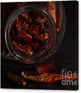 Dried Chilli Canvas Print