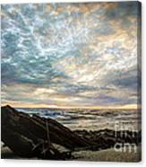 Driftwood Sunset Canvas Print