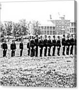 Drilling Soldiers Jefferson Barracks Us Army C 1895 Canvas Print
