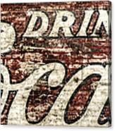 Drink Coca-cola 2 Canvas Print