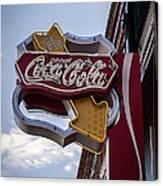 Drink Coca Cola Sign Canvas Print