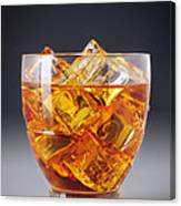 Drink On Ice Canvas Print