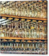 Drinks On The House In Smoky Gold Canvas Print