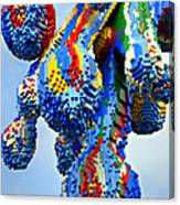 Dripping Lego Paint Canvas Print