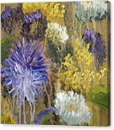 Drippy Bouquet With Gold Leaf By Vic Mastis Canvas Print