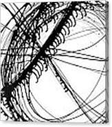 Drippy Circles Black Canvas Print