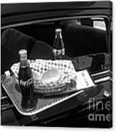 Drive-in Coke And Burgers Canvas Print