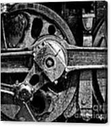 Drive Wheel - 190 - Bw Canvas Print