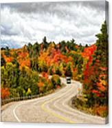 Driving Through Algonquin Park - V2 Canvas Print