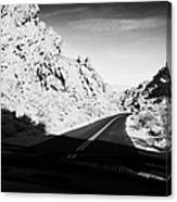 Driving Through Canyons On The White Domes Road Scenic Drive Valley Of Fire State Park Nevada Usa Canvas Print