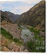Driving Through Wind River Canyon Canvas Print