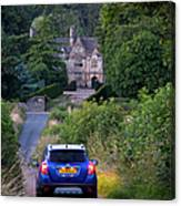Driving To Manor House Canvas Print