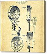Droop Hand  Drum Patent Drawing From 1892 - Vintage Canvas Print