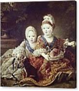 Drouais, Fran�ois Hubert 1727-1775. The Canvas Print