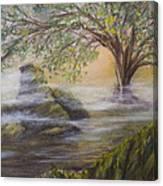 Druid's Altar At Mystic River Canvas Print