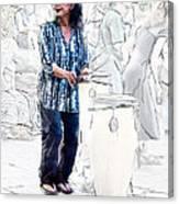 Drum Mother Canvas Print