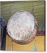Drum Outside Former Living Quarters Of Dalai Lama In Potala Palace In Lhasa-tibet Canvas Print