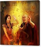 Drum Story Elders Teaching Canvas Print