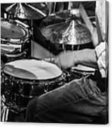 Drummer at work Canvas Print