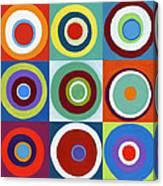 Drunk Circles Canvas Print