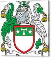 Drury Coat Of Arms Irish Canvas Print