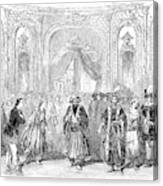 Drury Lane Theatre, 1854 Canvas Print
