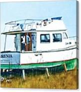 Dry Docked Cabin Cruiser Canvas Print