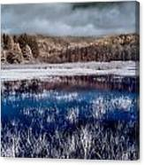 Dry Lagoon Blues Canvas Print