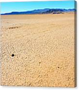 Dry Soil In Death Valley - Color Canvas Print