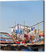 Drying Clothes Indian Style Canvas Print