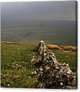 Drystone Wall  Misty Day Kettlewell Wharfedale North Yorkshire England Canvas Print