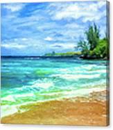 D T Fleming Beach Park Canvas Print