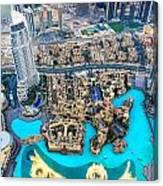 Dubai Downtown - Uae Canvas Print