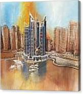 Dubai Marina Complex Canvas Print