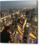 Dubai Marina Twilight Canvas Print