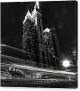 Dubai Night Street Rush Canvas Print