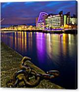 Dublin Docklands At Night / Dublin Canvas Print