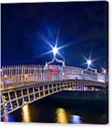 Dublin - Ha'penny Bridge  Canvas Print
