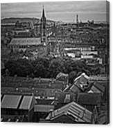 Dublin Ireland Cityscape Bw Canvas Print