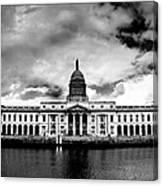 Dublin - The Custom House - Bw Canvas Print