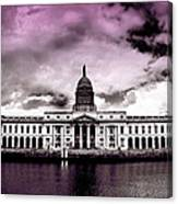 Dublin - The Custom House - Lilac Canvas Print
