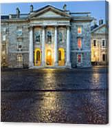 Dublin Trinity College Chapel At Night Canvas Print