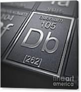 Dubnium Chemical Element Canvas Print