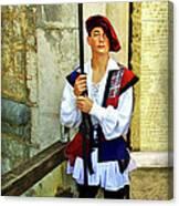 Dubrovnik Guard Canvas Print
