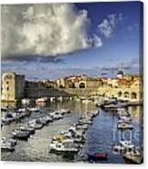 Dubrovnik Harbor Canvas Print