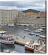 Dubrovnik Old Harbour Canvas Print
