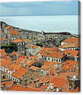 Dubrovnik Rooftops And Walls Canvas Print