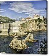 Dubrovnik Walled City Canvas Print